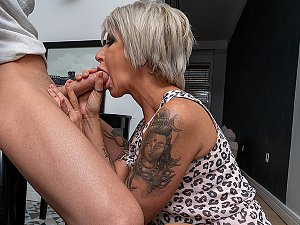Milf takes her lover's cock up the ass and in her pussy