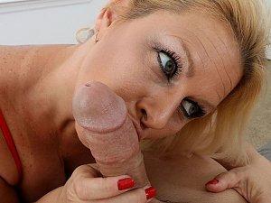 Blonde Cougar Selah Rain Blowjob and Handjob