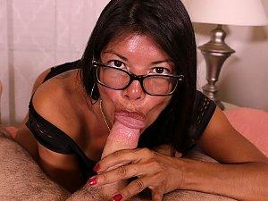 Latina step mom Isabella sucking big cock